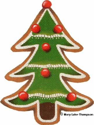 click here to view larger image of Christmas Tree Cookie (hand painted canvases)