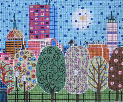 click here to view larger image of Boston Abstract (hand painted canvases)