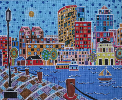 click here to view larger image of Boston Harbor (hand painted canvases)