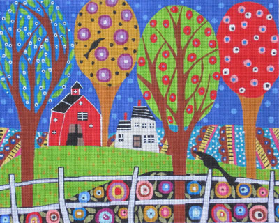 click here to view larger image of Folk Art Farm 2 (hand painted canvases)
