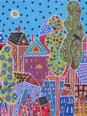 click here to view larger image of Town Abstract (hand painted canvases)