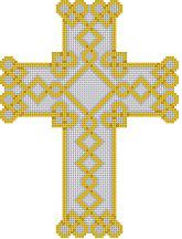 click here to view larger image of Celtic Hearts Cross (hand painted canvases)
