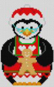 click here to view larger image of Mrs Clause Penguin with Cookie (hand painted canvases)