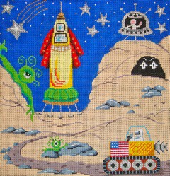 click here to view larger image of Space Scene (hand painted canvases)