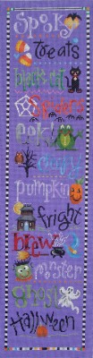 click here to view larger image of Halloween Bell Pull (hand painted canvases)