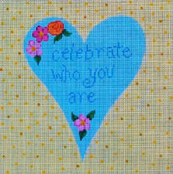 click here to view larger image of Celebrate Who You Are Heart (hand painted canvases)