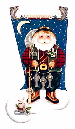 click here to view larger image of Fisherman Santa (hand painted canvases)