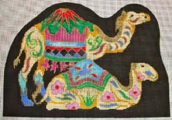 click here to view larger image of Camels Creche (hand painted canvases)