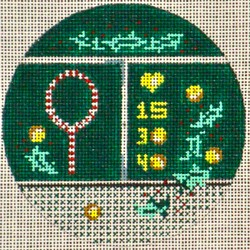 click here to view larger image of Tennis Round Ornament (hand painted canvases)