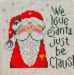 click here to view larger image of We Love Santa Just ... (hand painted canvases)