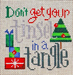 click here to view larger image of Don't Get ... Tinsel (hand painted canvases)