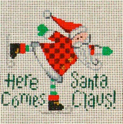 click here to view larger image of Here Comes Santa (hand painted canvases)