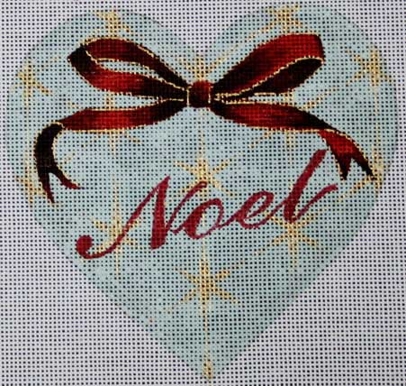 click here to view larger image of Noel Heart (hand painted canvases)