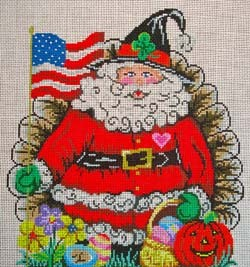 click here to view larger image of All Holiday Santa (hand painted canvases)