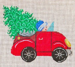click here to view larger image of VW Bug With Tree (hand painted canvases)