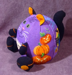 click here to view larger image of PUDGIE Halloween Cat (hand painted canvases)