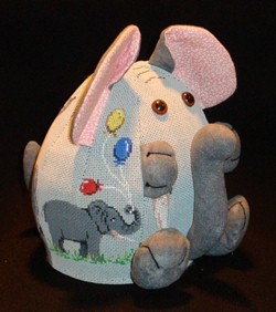 click here to view larger image of PUDGIE Elephant  (hand painted canvases)