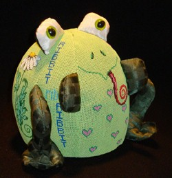 click here to view larger image of PUDGIE Frog (hand painted canvases)