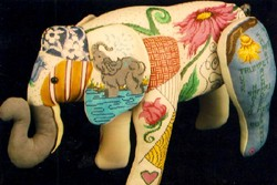 "click here to view larger image of ""Michael"" 3-D Elephant (hand painted canvases)"