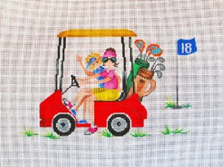 click here to view larger image of Golf Cart and Girls (hand painted canvases)
