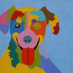 click here to view larger image of Big Tongue on Blue (18ct) (hand painted canvases)