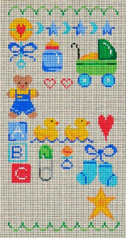 click here to view larger image of Baby Boy Sampler (hand painted canvases)