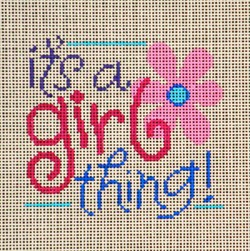 click here to view larger image of It's a Girl Thing (hand painted canvases)