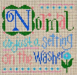 click here to view larger image of Normal is Just a Setting ... (hand painted canvases)