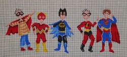 click here to view larger image of Super Heroes (hand painted canvases)