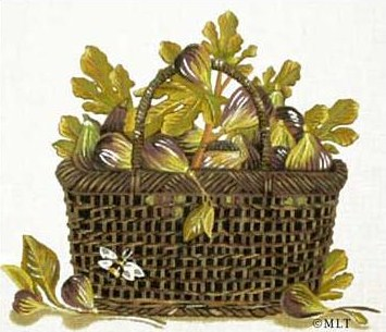 click here to view larger image of Fig Basket  (hand painted canvases)