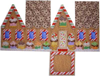 click here to view larger image of Gingerbread Cottage- Cupcakes (hand painted canvases)