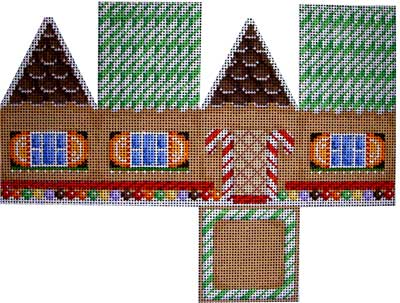 click here to view larger image of Gingerbread Cottage - Cane Roof (hand painted canvases)