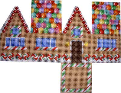 click here to view larger image of Gingerbread Cottage - Gumdrop Roof (hand painted canvases)