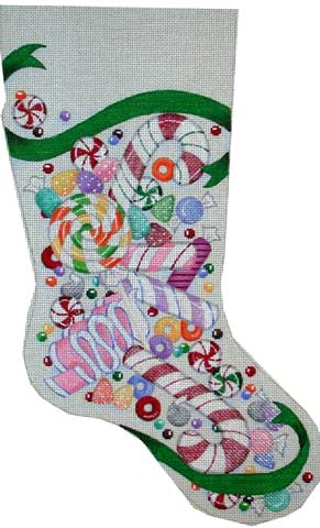 Candy Stocking hand painted canvases