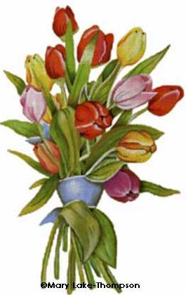click here to view larger image of Floral - Tulips (hand painted canvases)