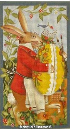 click here to view larger image of Easter Bunny Boy  (hand painted canvases)