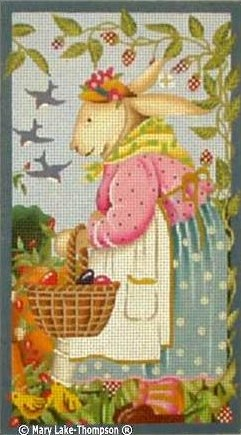 click here to view larger image of Easter Bunny Girl (hand painted canvases)