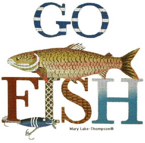 click here to view larger image of Go Fish (hand painted canvases)