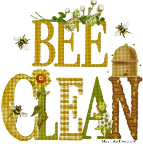 click here to view larger image of Bee Clean (hand painted canvases)
