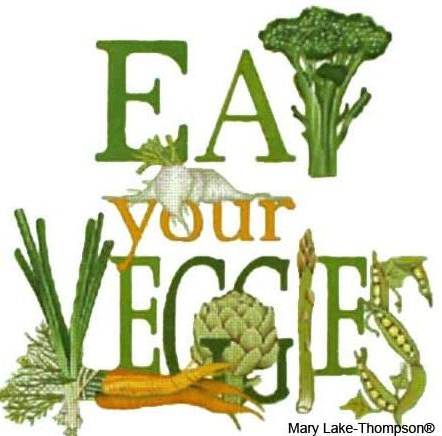 click here to view larger image of Eat Your Veggies  (hand painted canvases)