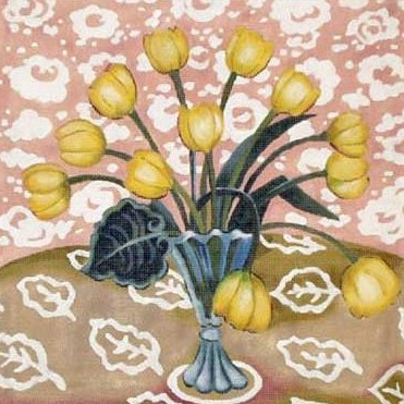click here to view larger image of Yellow Tulips (hand painted canvases)