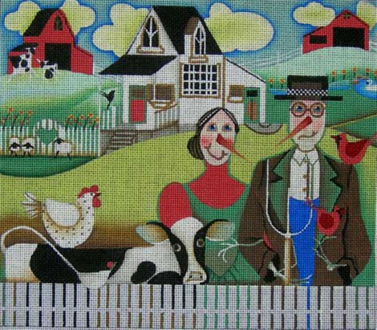 click here to view larger image of American Gothic (hand painted canvases)