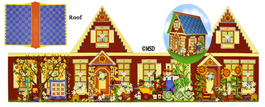 click here to view larger image of Harvest Garden House (hand painted canvases)