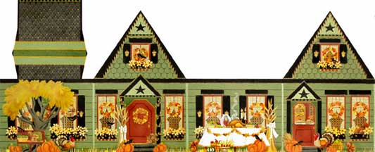 click here to view larger image of Thanksgiving House (hand painted canvases)