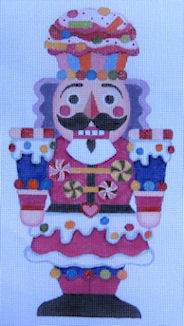 click here to view larger image of Giant Candy Nutcracker (hand painted canvases)