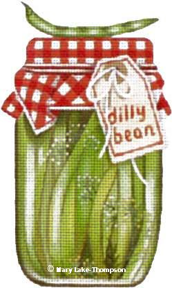 click here to view larger image of Dilly Bean (hand painted canvases)