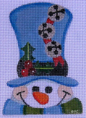 click here to view larger image of Blue Hat Snowman (hand painted canvases)