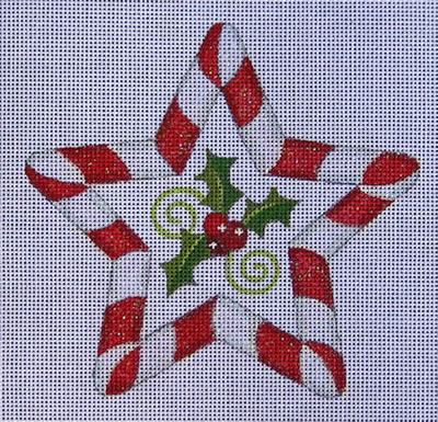 Peppermint Star hand painted canvases