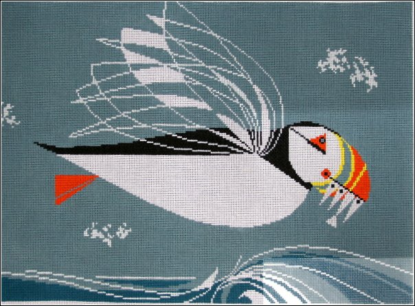 click here to view larger image of Puffin in Flight (hand painted canvases)