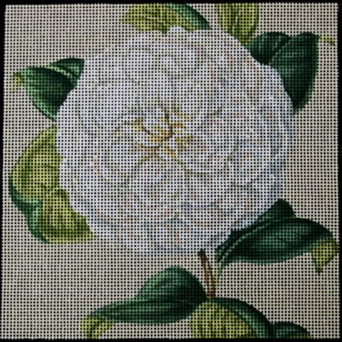click here to view larger image of White Camellia (hand painted canvases)